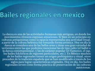 Bailes regionales en  mexico