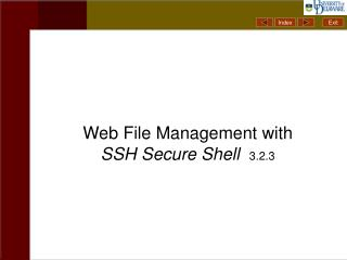 Web File Management with  SSH Secure Shell 3.2.3