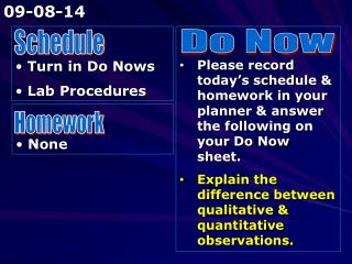 Turn in Do Nows  Lab Procedures