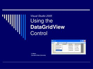 Visual Studio 2005 Using the  DataGridView  Control
