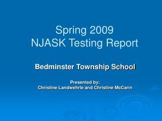Spring 2009 NJASK Testing Report