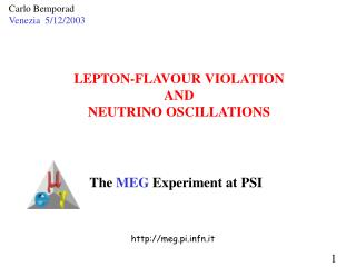 LEPTON-FLAVOUR VIOLATION AND NEUTRINO OSCILLATIONS