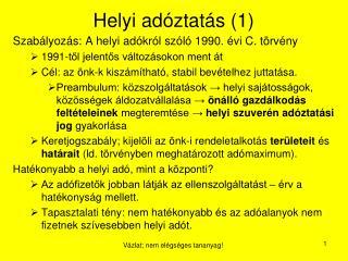 Helyi ad�ztat�s (1)