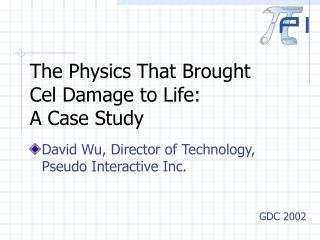 The Physics That Brought Cel Damage to Life:  A Case Study