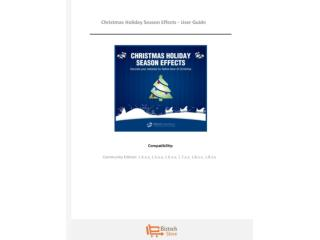 Christmas Holiday Season Effects - User Guide