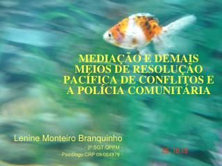 MEDIAÇÃO E DEMAIS MEIOS DE RESOLUÇÃO PACÍFICA DE CONFLITOS E A POLÍCIA COMUNITÁRIA
