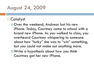 August 24, 2009