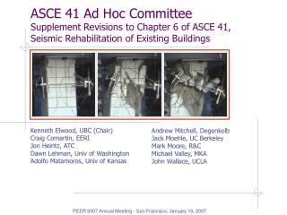 ASCE 41 Ad Hoc Committee Supplement Revisions to Chapter 6 of ASCE 41, Seismic Rehabilitation of Existing Buildings