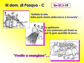 III dom. di Pasqua - C