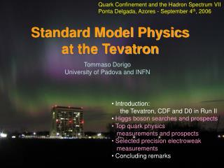 Standard Model Physics  at the Tevatron