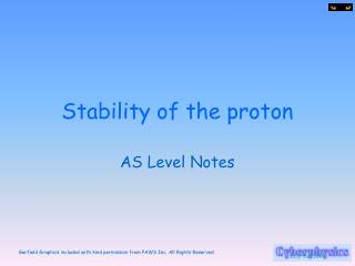Stability of the proton