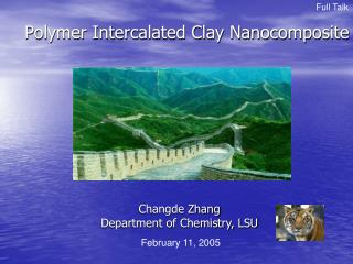 Polymer Intercalated Clay Nanocomposite