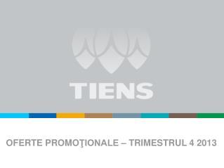 OFERTE PROMO ŢIONALE –  TRIMESTRUL 4 2013