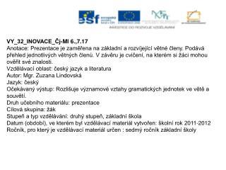 VY_32_INOVACE_Čj-Ml 6.,7.17