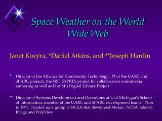 Space Weather on the World Wide Web