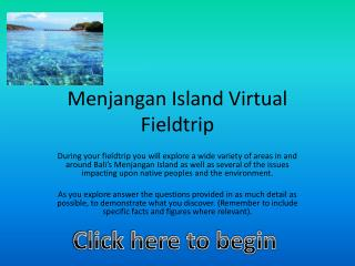 Menjangan Island Virtual Fieldtrip