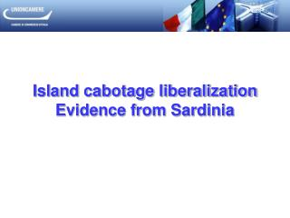 Island cabotage liberalization Evidence from Sardinia