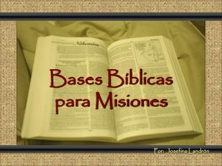 Bases Bíblicas para Misiones