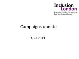 Campaigns update