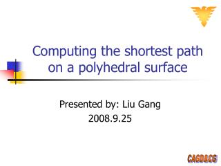Computing the shortest path on a polyhedral surface
