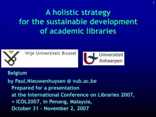A holistic strategy  for the sustainable development  of academic libraries