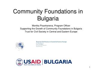 Community Foundations in Bulgaria