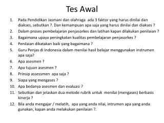 Tes Awal
