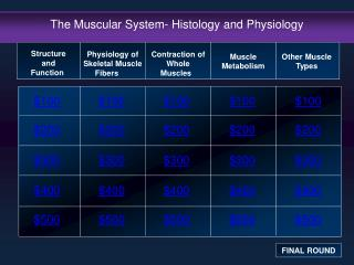 The Muscular System- Histology and Physiology