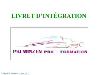 LIVRET D'INTÉGRATION