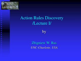 Action Rules Discovery