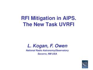 RFI Mitigation in AIPS. The New Task UVRFI