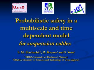Probabilistic safety in a multiscale and time dependent model