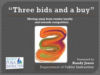 """Three bids and a buy"""