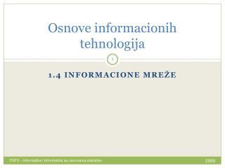 Osnove informacionih tehnologija