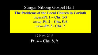 Sungai Nibong Gospel Hall