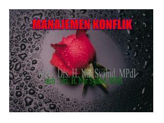 oleh : Drs. H. Nur Syahid, MPdI