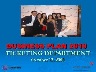 BUSINESS PLAN 2010