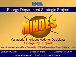 Energy Department Strategic Project