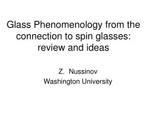 Glass Phenomenology from the connection to spin glasses: review and ideas