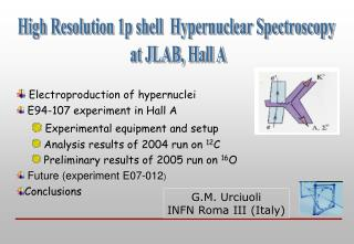 High Resolution 1p shell  Hypernuclear Spectroscopy  at JLAB, Hall A