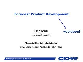 Forecast Product Development