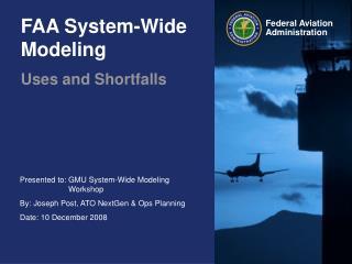 FAA System-Wide Modeling