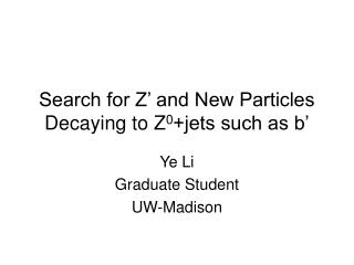 Search for Z' and New Particles Decaying to Z 0 +jets such as b'