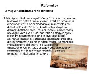 Reformkor