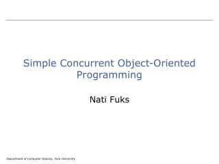 Simple Concurrent Object-Oriented Programming