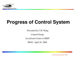 Progress of Control System