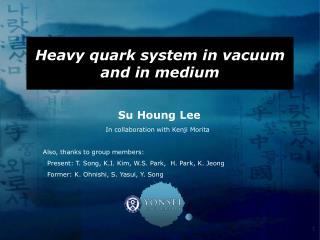 Heavy quark system in vacuum and in medium