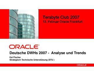 Deutsche DWHs 2007 -  Analyse und Trends