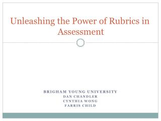 Unleashing the Power of Rubrics in Assessment