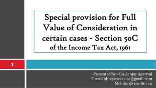 Special provision for Full Value of Consideration in certain cases - Section 50C